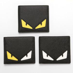 3 farben Designer Brieftasche Modemarke Männer Geldbörsen Leder Augen Karte Brieftasche Junge Student Geldbörsen