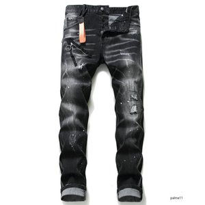 dsquared2 jeans firmati da uomo jeans d2 brand DS2 denim high quality fashion Italy mens 2019 luxury designer Dsquared2 jean ds2 ripped bike jeans hip hop denim roccia nuovo arrivo