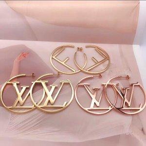 Kadınlar Hediyeler toptan fiyat için 2020 Yeni Geliş hip hop tarzı Takı Üst Kalite Paslanmaz Çelik 3 Renkler Altın Kaplama Stud küpe