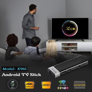 X96S TV çubuk mini PC Android 8.1 TV kutusu Amlogic S905Y2 DDR 2 GB 16 GB 4 GB 32 GB Bluetooth 4 K MİNİ Dongle Akıllı TV