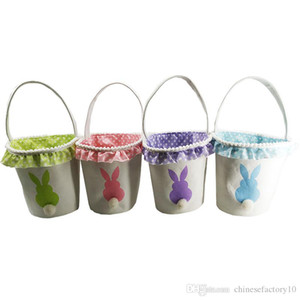 Easter Bunny Tail Basket Rabbit Basket Bunny Egg Buckets 2019 Bunny Gift Bag Festive Supplies 4 Diseños