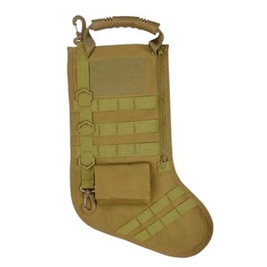 NEW-Christmas Stocking Sock Storage Bag Pouch Holiday Decoration Xmas Gift Tan Outdoor Sports Storage Bag
