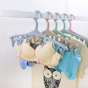 Fantastic Clothes Hanger Windproof Buckle Hanger Multi-Function Plastic Candy Color Clothes Hanger Household Childrens Clothes Plasti
