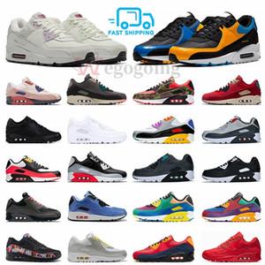 Nike air max 90 NEW Camo premium OG Running Shoes Be True Viotech Mixtape Mars Landing Camowabb anos 90 homens formadores Mulheres Sports Outdoor Tênis