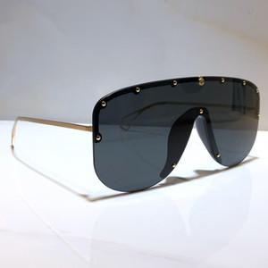 küçük Perçinler Yeni moda 0667S tasarımcı güneş gözlüğü bağlı mercek büyük beden yarım çerçeve 0667 maske popüler gözlük en kaliteli güneş gözlüğü