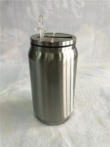 Yalıtımlı Vakum Colar Tumblers 304 Paslanmaz Çelik Kapakları Plastik Hasır Toptan İçme En Yeni 12oz Cola Şişeleri