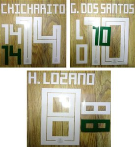 18 19 Mexico white printing nameset CHICHARITO soccer player's stamping plastic stickers hot printed numbering impressed football letters