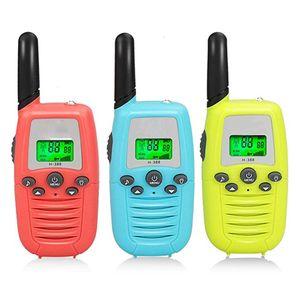 Enfants Talkie Walkie 3 Pack Radios bidirectionnelles avec ceinture Clip 3 KM Gamme de jouets d'enfants pour Outdoor Adventures Jeu