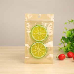 Clear Plastic Kraft Paper Bag 10 Sizes Pouches Transparent Zipper Package Bags for Snack Candy Sugar Storage LX2925