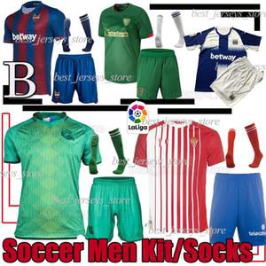 Real Sociedad kits del fútbol Levante UD uniforme de fútbol Bilbao Leganés Camiseta de Fútbol Sporting de Gijón ILLARRA Bardhi WILLIAMS calcetín adulto