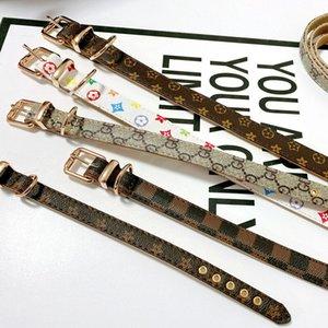 Neue Ankunfts-Designer-Haustier-Hundehalsband Luxus Leinen Leder-Material Ajustable Dgd Kragen Katze Haustiere Zubehör