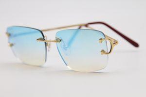 Завод прямых продаж T8300816 Rimless Новые очки 2020 Модные солнцезащитные очки из металла Горячая Человек женщина Марка очки Размер кадра: 54-18-140mm