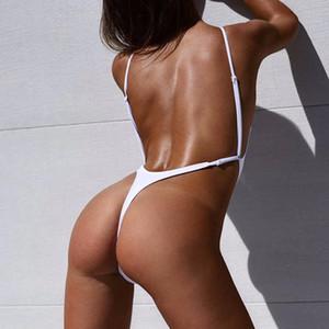 New Sexy Bianco High Cut Gamba Perizoma Costume Da Bagno Per Le Donne Costumi Da Bagno Costume Intero Femminile Bagnante Costume Da Bagno Monokini K478