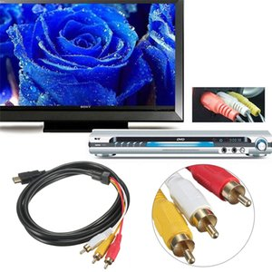 HDMI vers 3 RCA 3Ft 1M Nouveau HDMI mâle vers 3 RCA Vidéo Audio Câble Extension AV Convertisseur Adaptateur US STOCK
