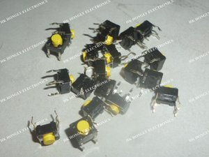 50PCS SKHHCRA010 6X6 Switch Tactile N.O. SPST Round Button PC Pins 0.05A 12VDC 5.1N Thru-Hole