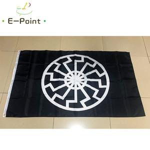 Black Sun bayrağı 3 * 5ft (90 cm * 150 cm) Polyester bayrak Banner dekorasyon uçan ev bahçe bayrağı Şenlikli hediyeler