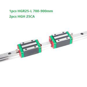 1pcs Original New HIWIN HGR25-700mm 800mm 900mm linear guide rail+2pcs HGH25CA linear narrow blocks for cnc router parts