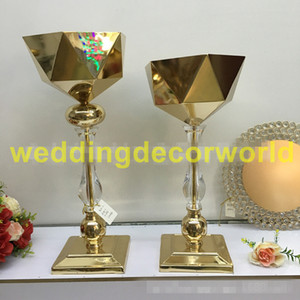 New stylAcrylic Vases Wedding Table Centerpieces Exquisite Pillar Flower Stand Party Event Flowers Road Lead For Hotel Home Decoration 00076