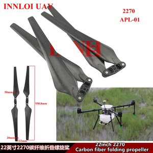 INNLOI bricolaje 22inch Drone Hélice plegable Hélice 2270 de fibra de carbono multirrotor hélice Accessoriesor Por Industrial Drone