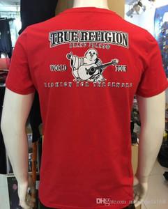 2020 de alta qualidade verão marcas Robins mens shirts preto branco azul vermelho verdadeira algodão o-pescoço curto rocha tshirts dos homens plus size M