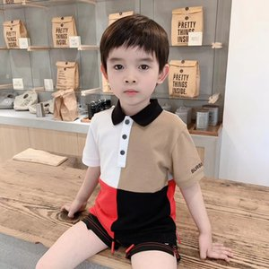 New Summer Cotton Short Sleeved Shirt Baby Boys Girls Solid Color Kids Polo Shirt Children's Clothes