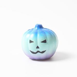 Прекрасный тыквенная голова Подарок Halloween Squishy Slow Восходящая Squeeze Упругие хлеб Charm Stress Relief Kid Игрушка Главная партия украшения VT0505