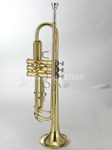 New MARGEWATE Bb Trumpet Brass Gold Lacquer Playing Musicla Instrument B Flat Bb Trumpet with Mouthpiece Free Shipping