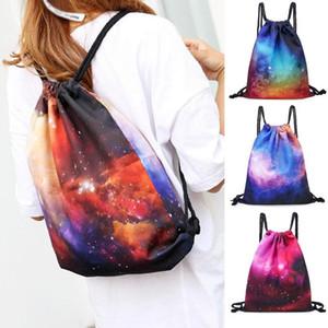 sacos para mulheres Moda Unissex Starry Sky Impressão Bolso Mochila com cordão Bolsa de Ombro Worek plecak sznurek # y4