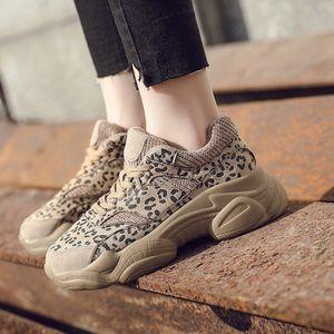 Hot Sale-New Autumn Winter sneakers Woman Casual Shoes Cow Suede Breathable Leopard Platform Women Shoes Ladies size 35-39 4381