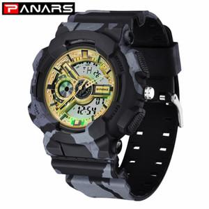 PANARS 2019 Reloj Digital de Nueva camuflaje militar al aire libre Deportes Doble Pantalla Relojes medidor electrónico impermeable para hombres
