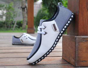 Горячие Продажи-Мода Простой Сверхлегкий Flattie Дышащий Повседневная Shose Кружева Мужская Обувь Британский Стиль нескользящей Подошве Спортивная Обувь
