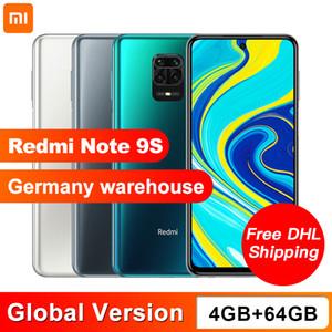 """In Stock Global Version Xiaomi Redmi Note 9S 9 S 4GB 64GB Smartphone Snapdragon 720G Octa Core 48MP AI Quad Camera 5020mAh 6.67"""""""