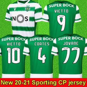Sporting CP 20 21 Lisboa Футбол Джетки Vietto Caults Acuna Home 2020 2021 Sporting Clube de Футбол Рубашка Maillot de Foot Таиланд
