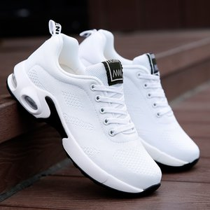 Fashion Women Shoes Air Cushion Sneakers Breathable Thick Sole Ladies Platform Trainers Female Height Increasing Shoes Plus Size