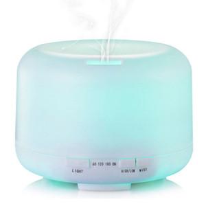 Aroma ile 7 Renk LED 500 ml Yuvarlak Nemlendirici Lamba Esansiyel Yağı Ultrasonik Elektrikli Aroma Difüzör Hava Nemlendirici İNGILTERE / ABD / AB Tak