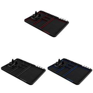 Multifuncional Car Anti-Slip Mat Auto Phone Holder não escorregar Fixo Anti Deslize traço Telefone Mount Silicone Painel do carro Mat Pad