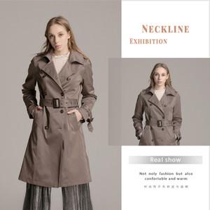 Vintage Slim Windbreaker Warme Instagram Fashion High Quality Streetwear Vogue Trench Elegant Coats Women Clothing 2019