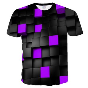 Cross-border new multi-color magic box for men and women 3DT shirt digital printing ultra-clear short-sleeved couple T-shirt