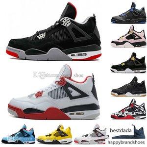 2019 Newest Bred 4 4s IV What The Cactus Jack Laser Wings Mens Basketball Shoes Denim Blue Eminem Pale Citron Men Sports Designer Sneakers