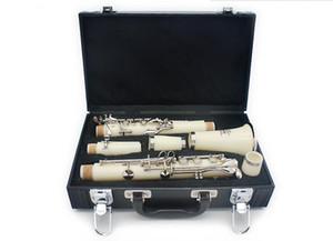 Fábrica al por mayor Nuevo Clarinete ABS Blanco para Principiantes Bb Clarinete Instrumentos Musicales Modelo Bakelite con Estuche
