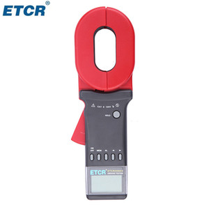 ETCR2000+ 0.01-1200ohm 65*32mm 99 Sets Stored Data Clamp On Digital Ground Resistance Tester Meter With Alarm Function