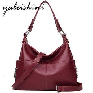 YABEISHINI высокого качества женщин кожа Crossbody мешок Sac главная леди мешок плеча сумочек Г-жа Посланника