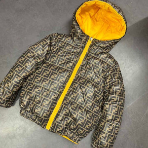 Double-sided Jacket Boys boys girls Coats Winter Kids Down Waterproof Snowsuit Hooded parka boys Coats for Children Clothes
