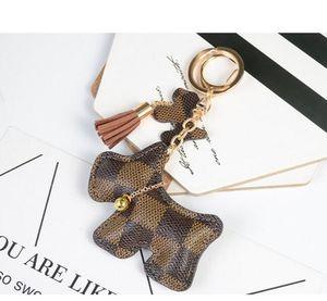 DHL Fashion PU Leather dog Key Chain Tassel Key Ring Car Bag Keychain For Women Jewelry Accessories Gift