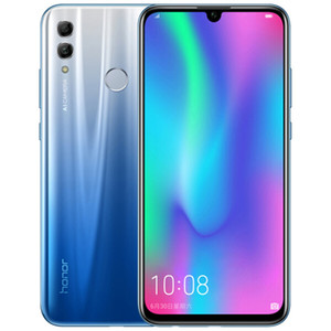 Original Huawei Honor 10 Lite 4G LTE Cell Phone 4GB RAM 64GB ROM Kirin 710 Octa Core 6.21 inch Full Screen 24MP Fingerprint ID Mobile Phone