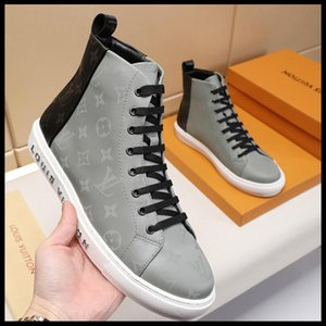 2019A ilkbahar ve sonbahar erkek s gündelik spor ayakkabıları orijinal kutu hızlı teslimat ile yüksek üst spor ayakkabıları, mikro standart ile deri,