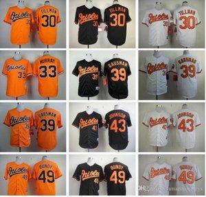 Homens costume Mulher Kids 30 Chris Tillman 33 Eddie Murray 39 Kevin Gausman 43 Jim Johnson Orioles Baseball presente jersey