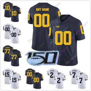 2019 Michigan Wolverines College Football Jersey 2 Johnny Manzie Jabrill Peppers Charles Woodson 55 Brandon Graham Michael Dwumfour