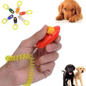 Dog Cat Button Clicker Pet Dog Trainer Портативный звуковой тренажер Pet Training Tool Запястье Аксессуар Click Train Trainer Бесплатная доставка