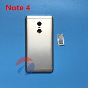 حالة الإسكان معدن البطارية الباب الخلفي الغطاء الخلفي الإطار الأوسط + استبدال أجزاء صينية sim ل xiaomi redmi ملاحظة 4 note4